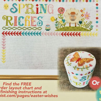 Easter Wishes: Part 2 - Spring Riches counted cross stitch pattern
