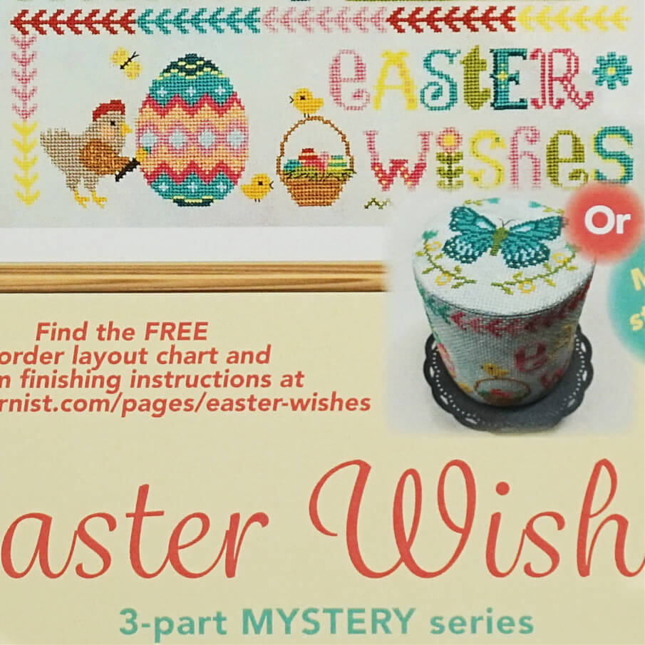 Easter Wishes counted cross stitch pattern