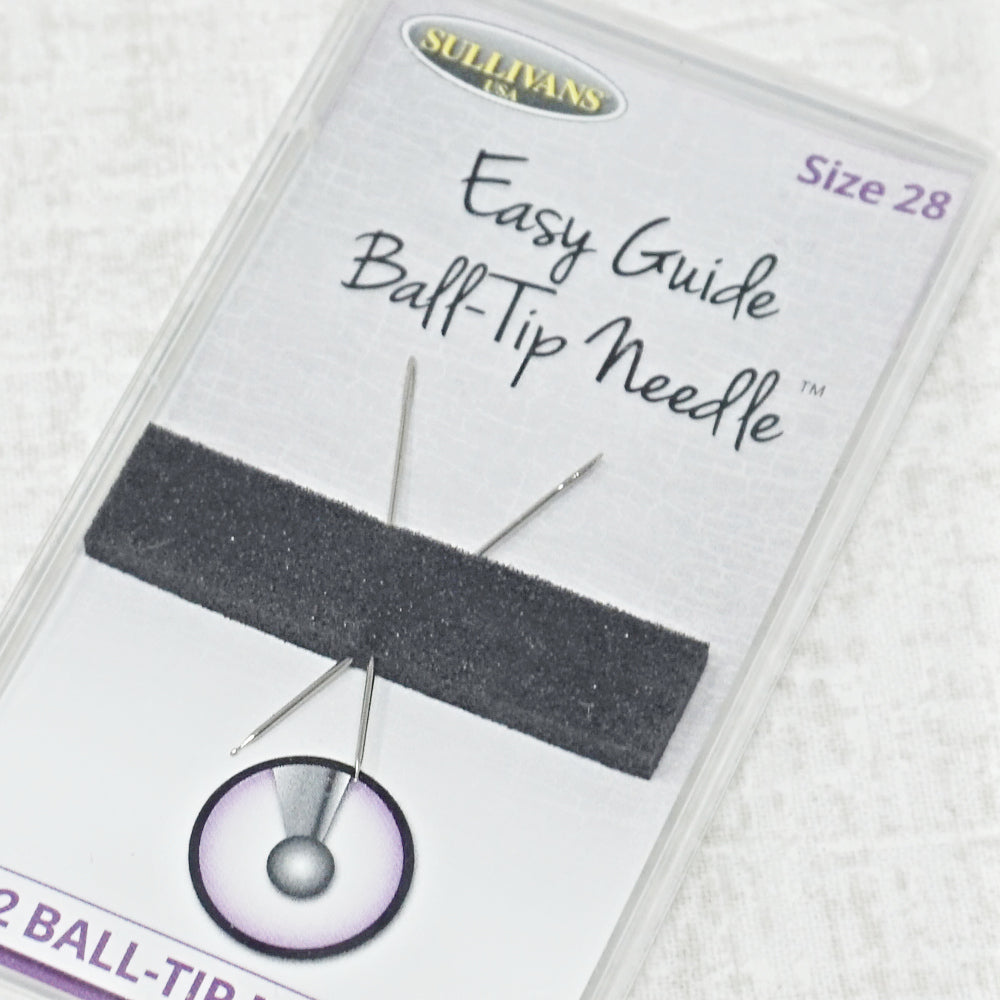 Sullivans easy guide ball tip size 28 cross stitch needles