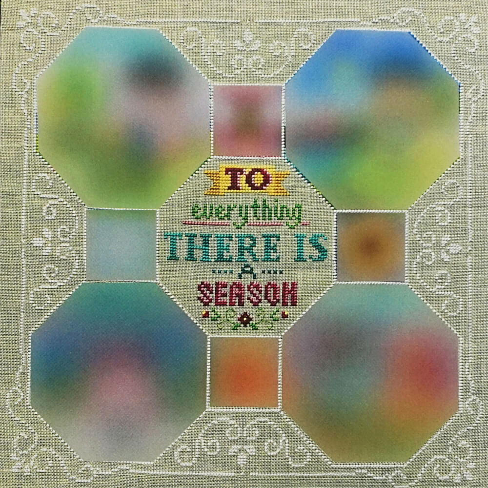 Every Season: Part 1 Border and Text counted cross stitch pattern