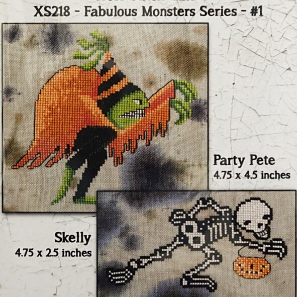 Fabulous Monsters Series #1 counted cross stitch pattern