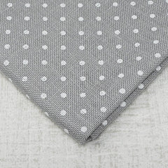 Grey with White Dots 32 count belfast linen from Zweigart