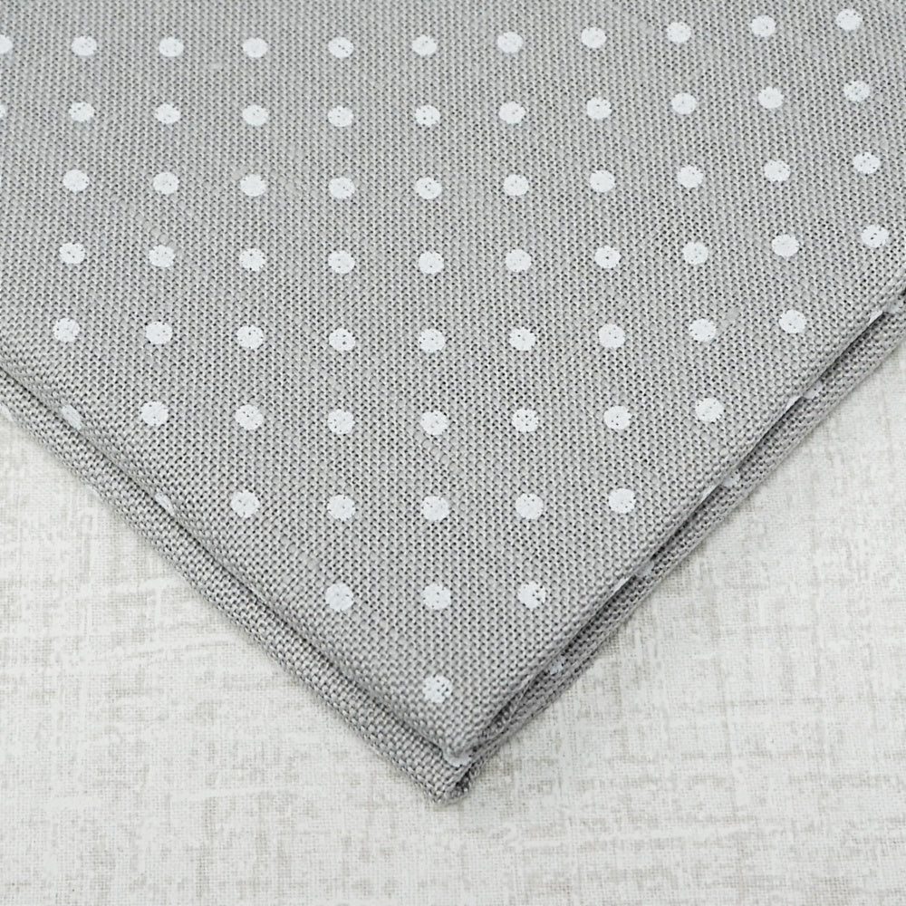 Grey with White dots 36 count edinburgh linen from Zweigart