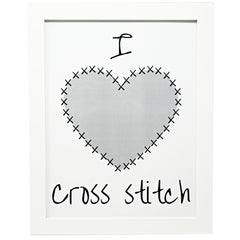 I heart cross stitch poster