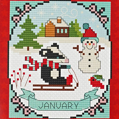 January counted cross stitch pattern