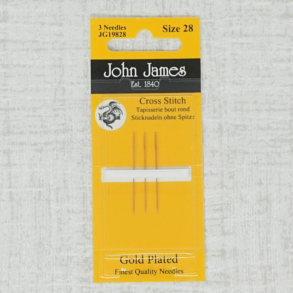 John james gold plated needles size 28