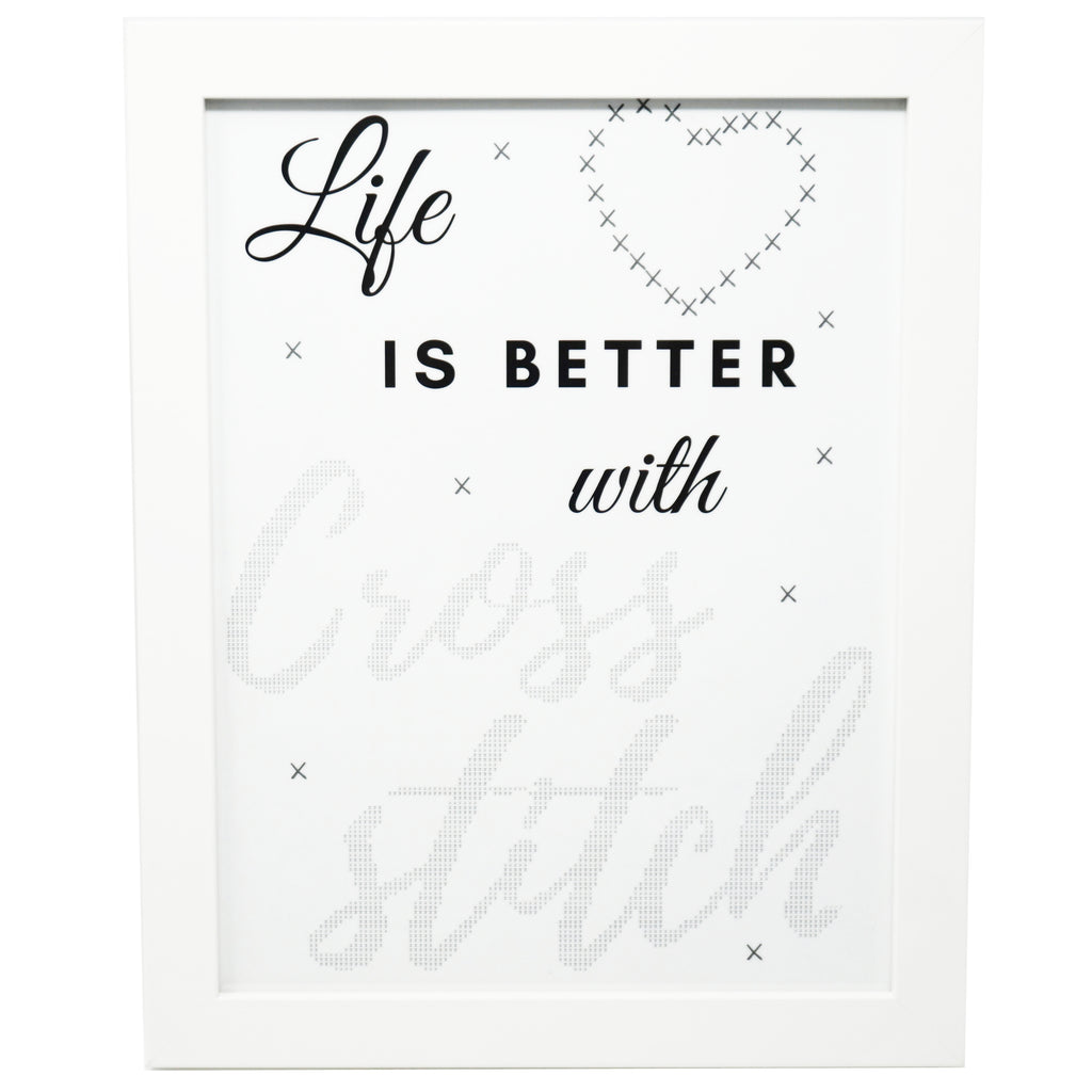 Life is Better with Cross Stitch Poster