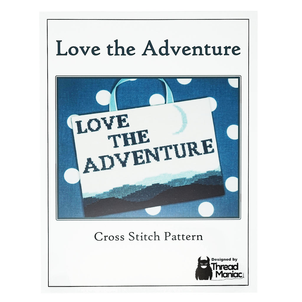 Cover of Love the Adventure Thread Maniac Designs cross stitch pattern