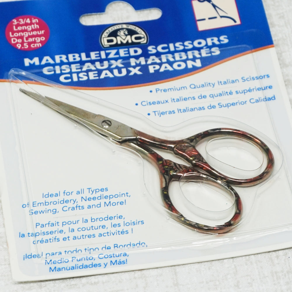 DMC marbleized embroidery scissors
