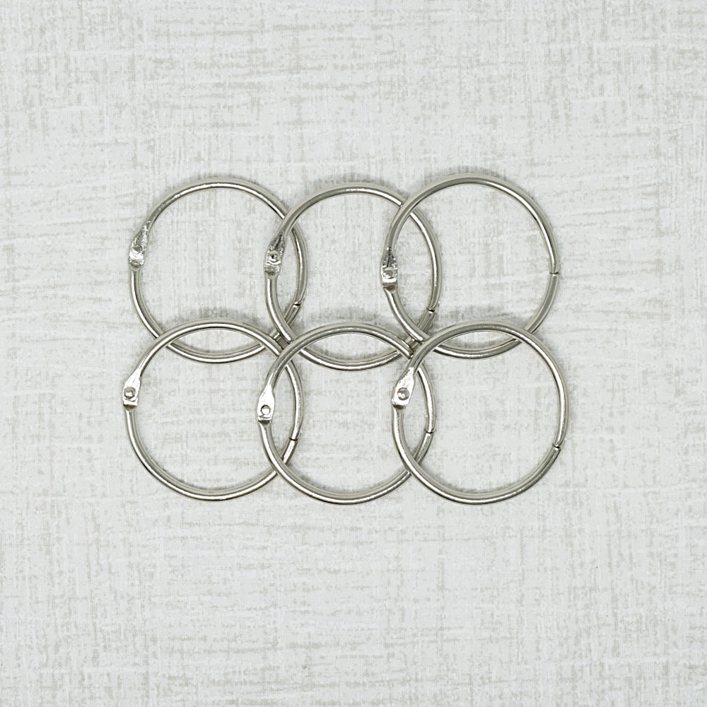 six one and a half inch metal rings