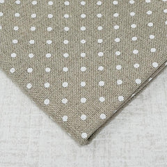 Raw with white dots 32 count belfast linen from Zweigart