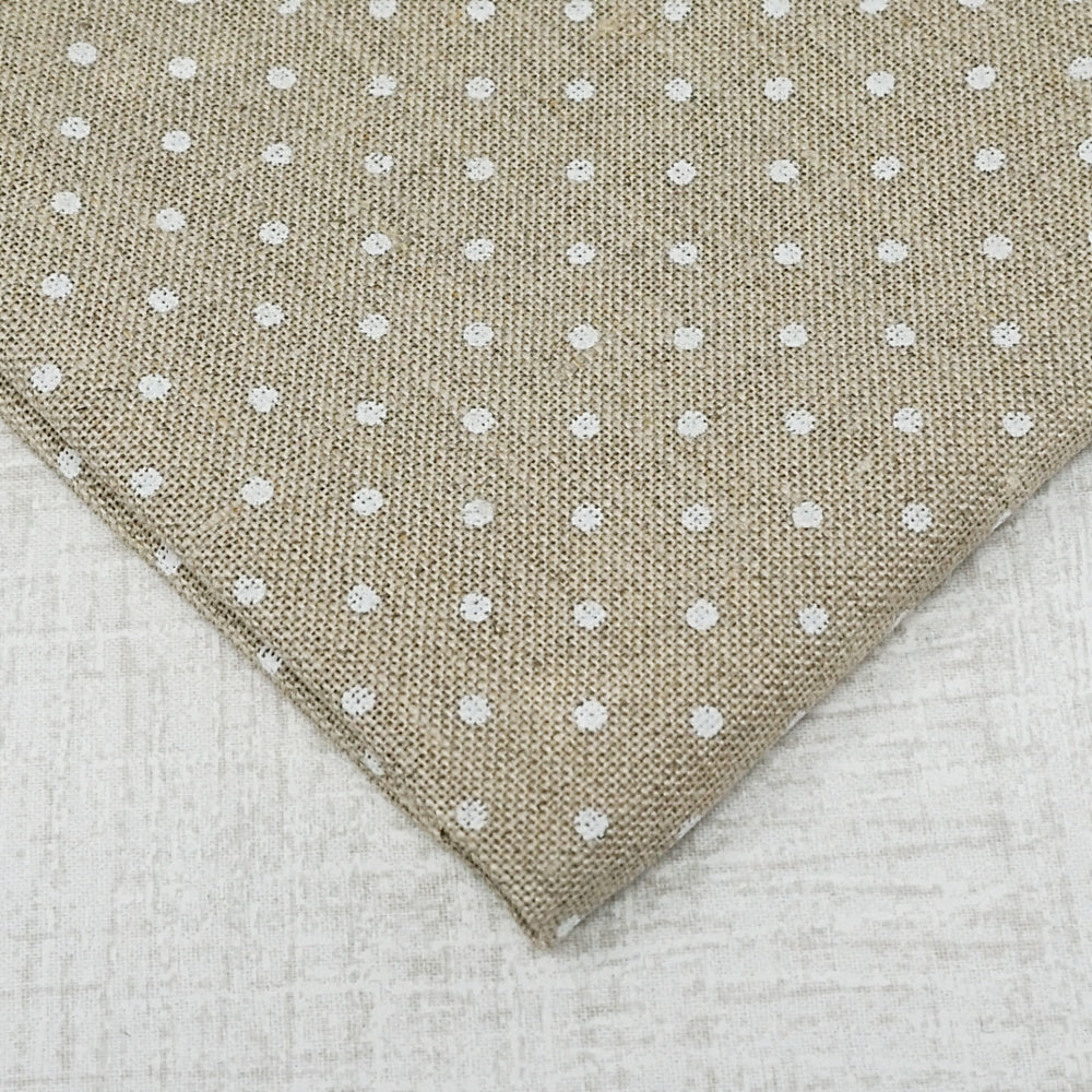 Raw with white dots 36 count edinburgh linen from Zweigart