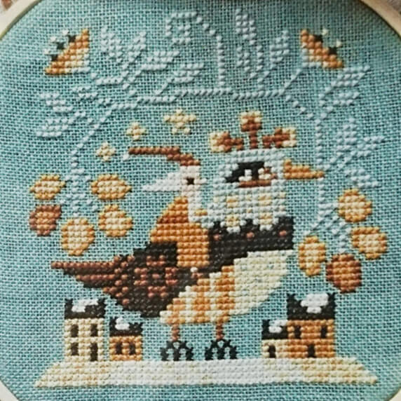 Santa's Flight counted cross stitch pattern