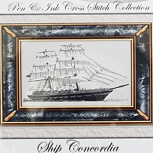 Ship Concordia counted cross stitch pattern