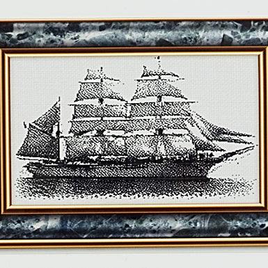 Ship Serenity counted cross stitch pattern