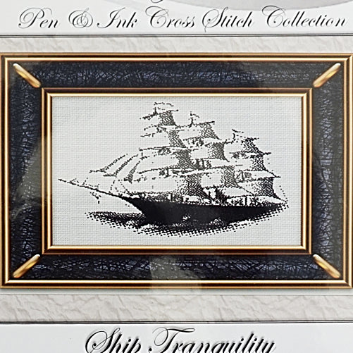 Ship Tranquility counted cross stitch pattern