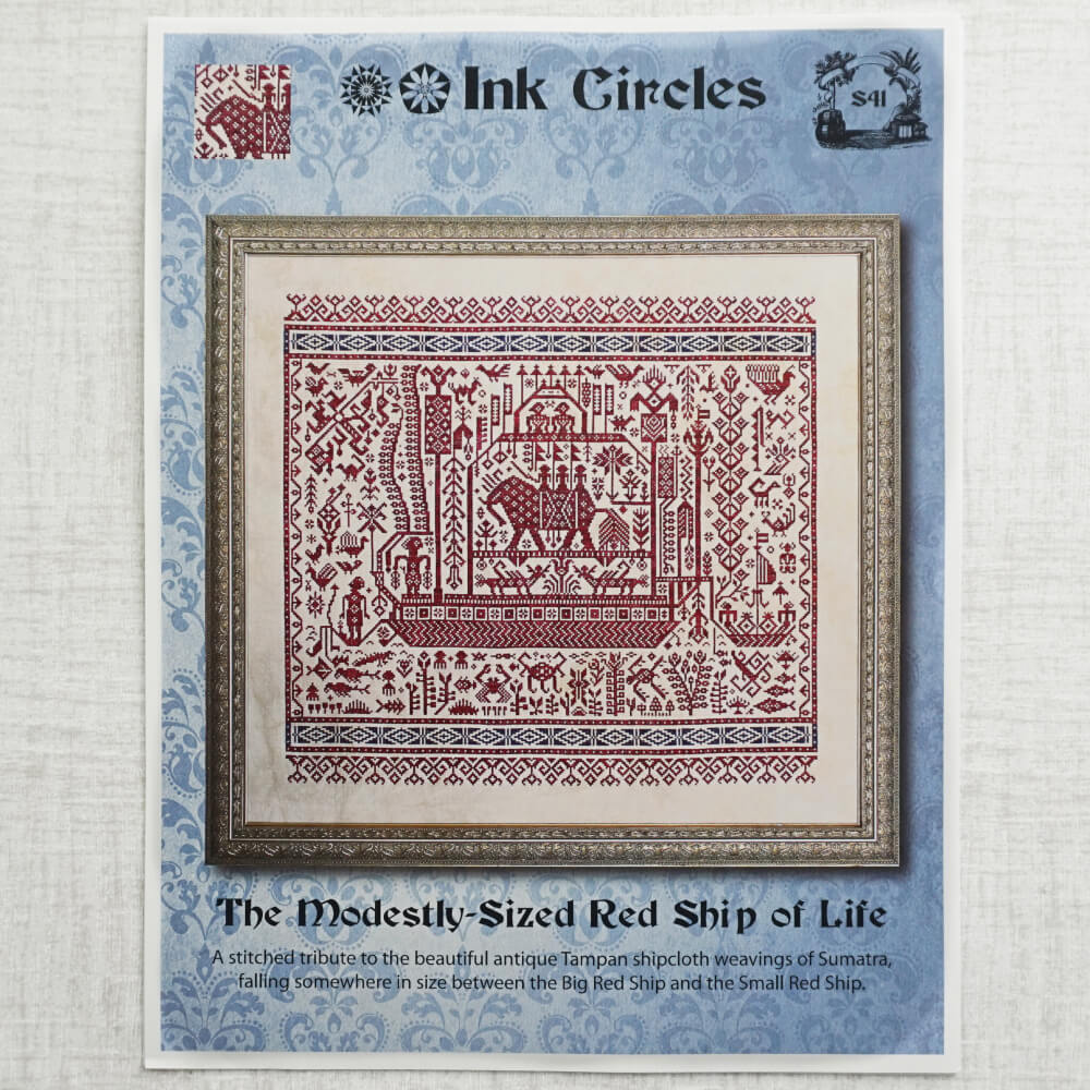 Modestly-Sized Red Ship of Life by Ink Circles
