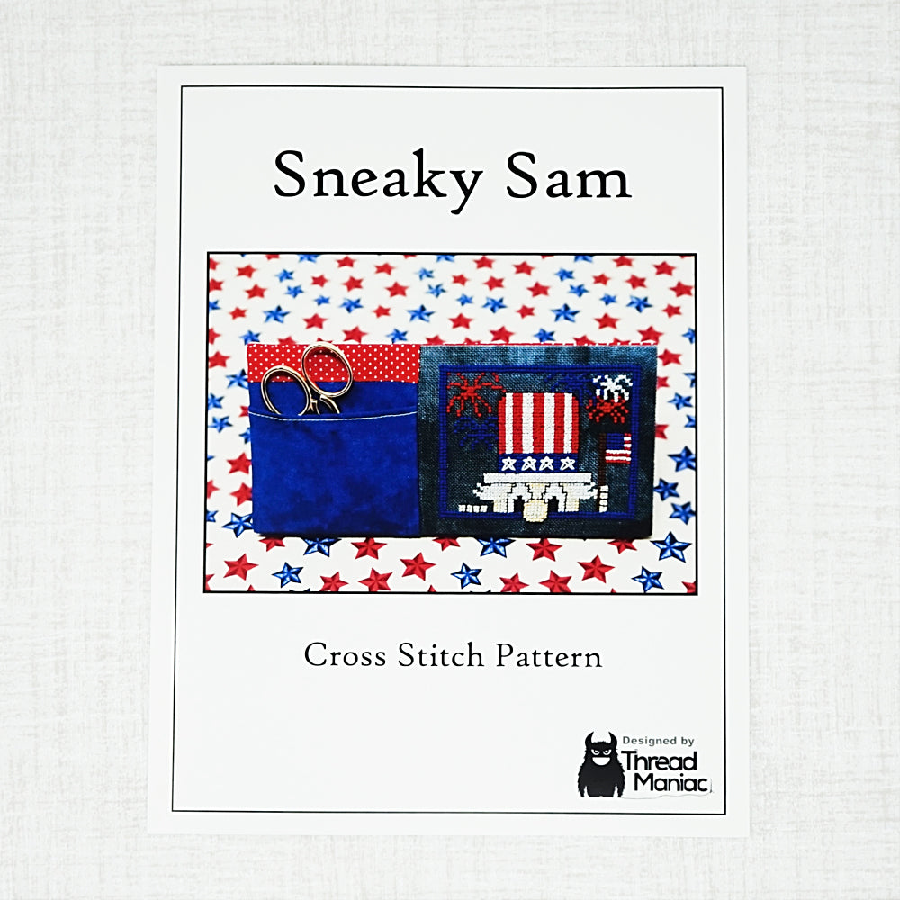 Sneaky Sam Cross Stitch Cover
