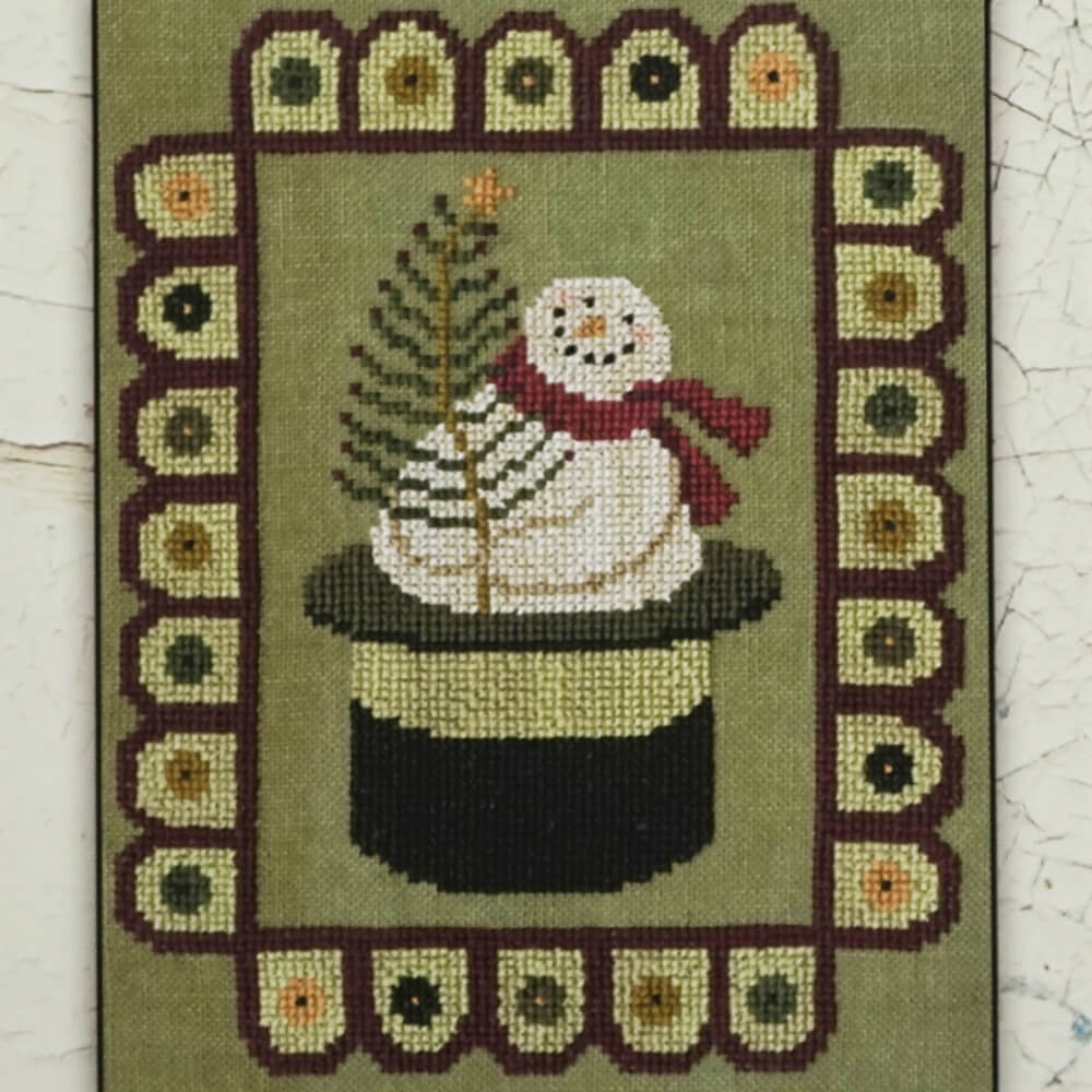 Snow Penny counted cross stitch cover