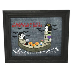 Spooky Arrivals Cross Stitch Pattern
