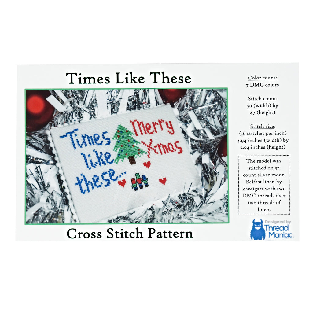 Times Like These Christmas Cross Stitch Pattern