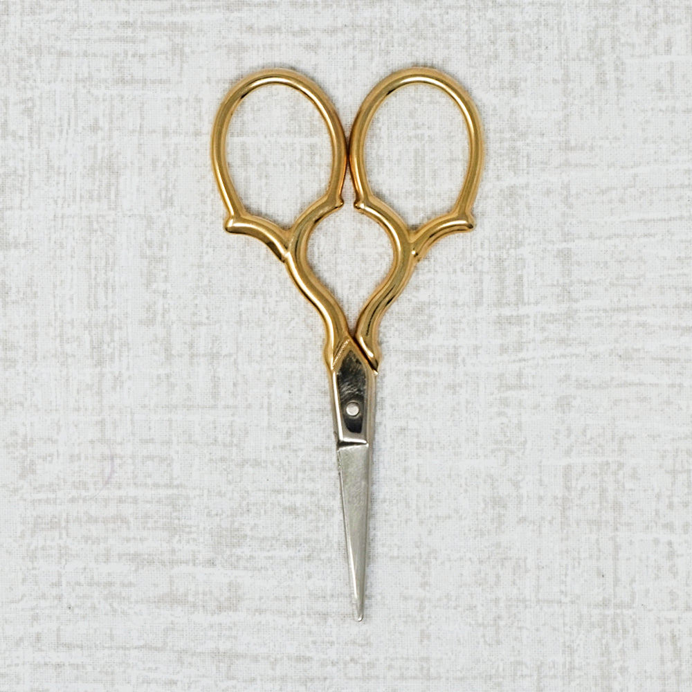Tudor Embroidery Scissors with Gold Handles