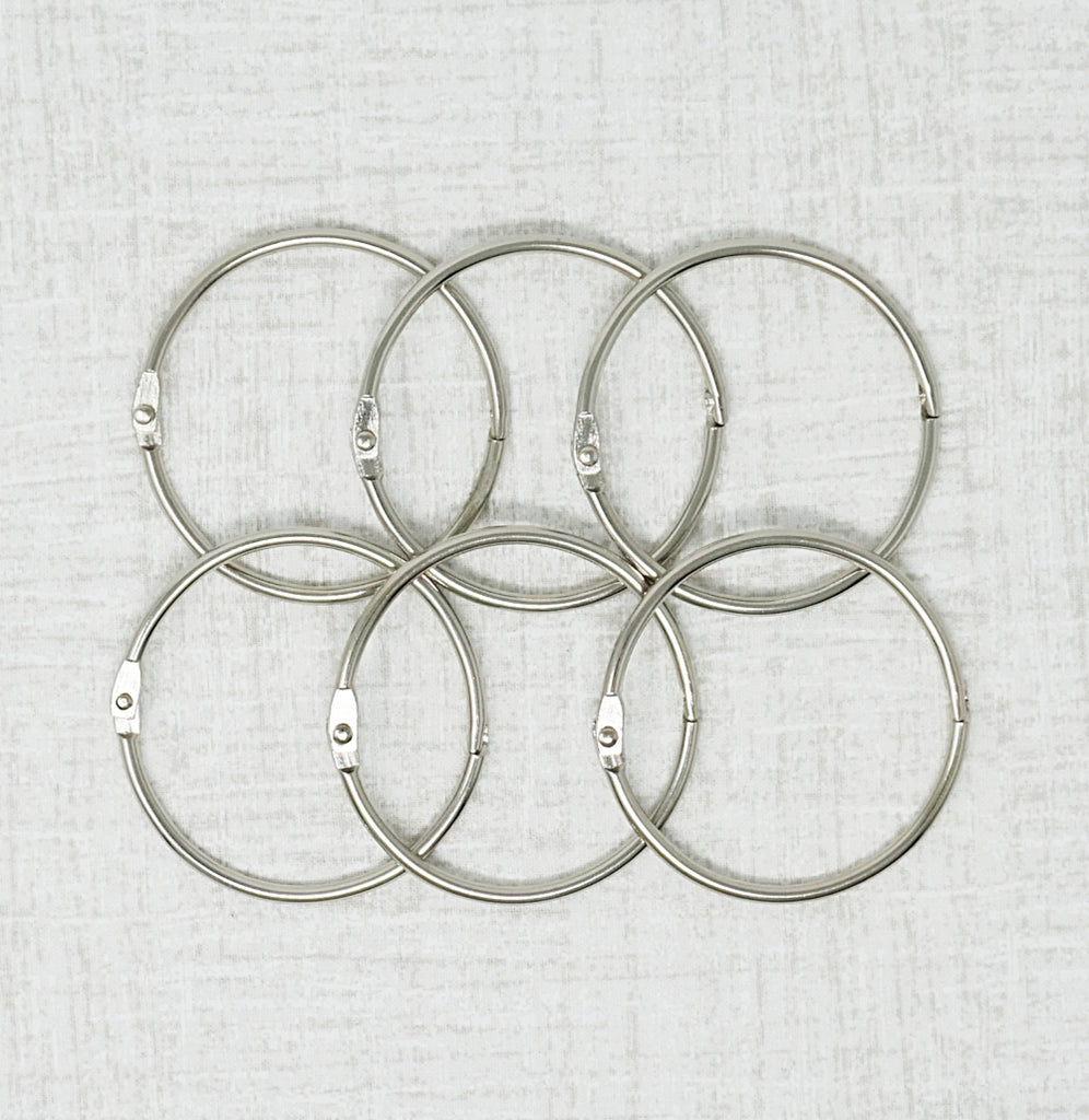 Six Two inch metal rings