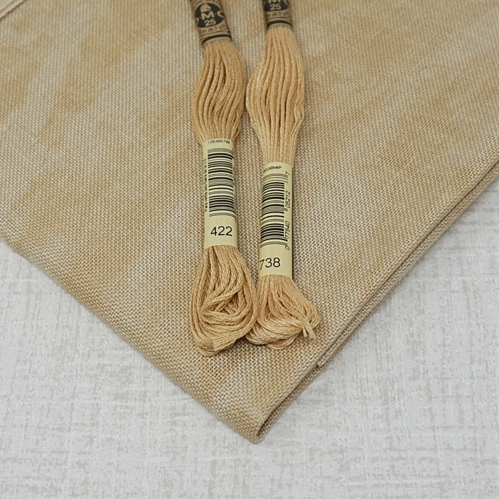 Vintage Country mocha 32 count belfast linen from zweigart for sale