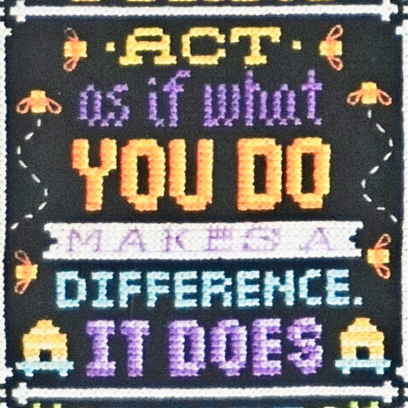 You Make a Difference counted cross stitch pattern