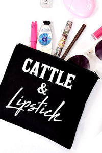 Cattle & Lipstick Make up Bag