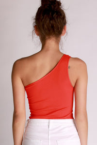 Red One Shoulder NikiBiki Body Suit