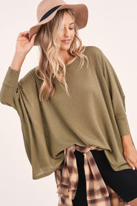 Worthy of You Waffle Knit Tunic