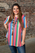 Load image into Gallery viewer, Pink Fiesta Serape Top - Curvy