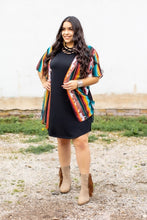 Load image into Gallery viewer, The Becky Cowhide & Serape Print Kimono - Curvy