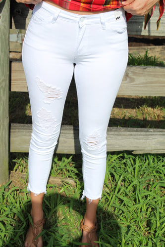 White Cropped Skinny