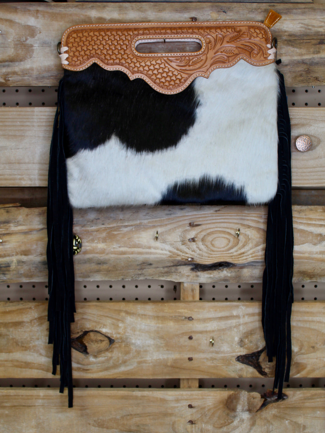 Long Black Train Purse