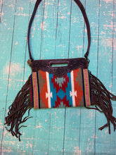 Load image into Gallery viewer, The Ramsey Saddle Blanket Purse- olive/orange/teal