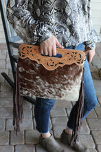 Load image into Gallery viewer, Chocolate Speckled Cowhide Purse