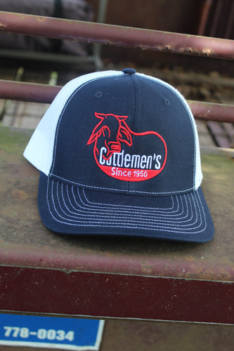 Cattlemen's Hat - Navy/red/white