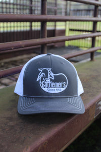 Cattlemen's Hat - grey & white