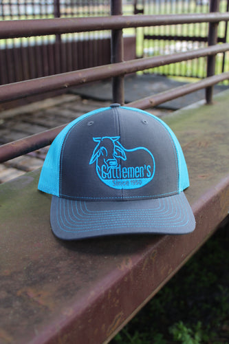 Cattlemen's Hat - Teal & Grey