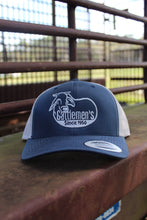 Load image into Gallery viewer, Cattlemen's Hat - dark blue/white