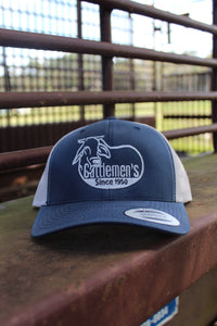 Cattlemen's Hat - dark blue/white