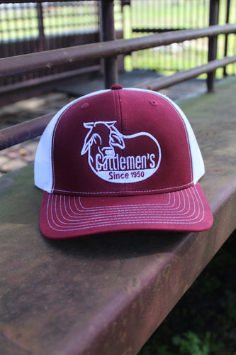 Cattlemen's Hat - red/white