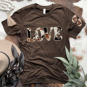 For The Love of Cowhide Tee