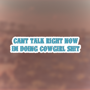 CAN'T TALK RIGHT NOW.... STICKER