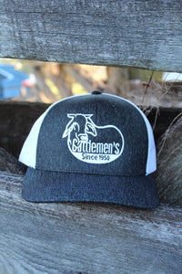 Cattlemen's Hat - Heather Black & White