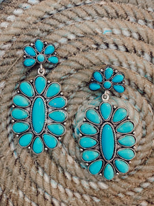 RESTOCKED- Give em Hell Turquoise Earings