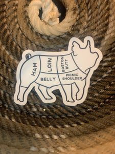 Pork Cuts sticker