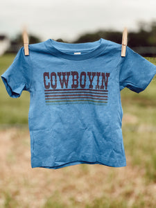 Blue Retro Cowboyin' Infant Tee